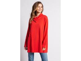 Gina Laura Sweatshirt, drapierter Knopf-Kragen, Oversized